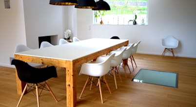 12 modern dining rooms featuring wood