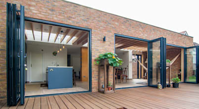 Brick takes centerstage in this beautiful house