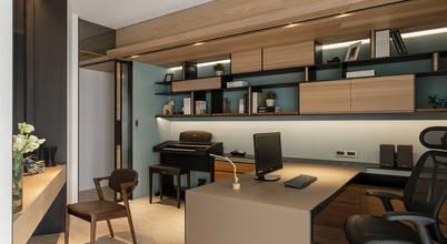 框景 │ 對話:  書房/辦公室 by 拾葉 建築室內設計