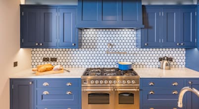 Embracing the blue kitchen