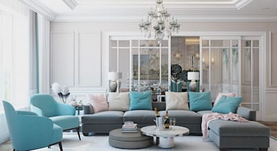 8 decorating tips for blue and white