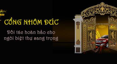 Cổng nhôm đúc Thiên Thanh Bảo