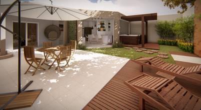 Projeto em 3D para área externa residencial em Valinhos/SP