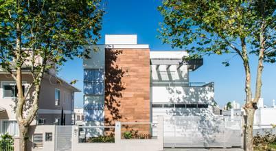Projeto para casa com fachada moderna em Palhoça (SC)