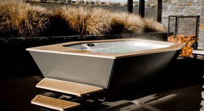 Ein Außenwhirlpool mit exklusivem Design und luxuriöser Ausstattung
