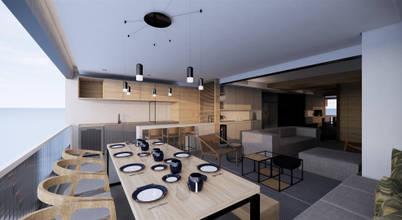 Design de interiores de apartamento moderno para casal em São Paulo