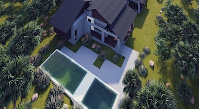 3D Elevation Plan of a Bungalow in Selangor