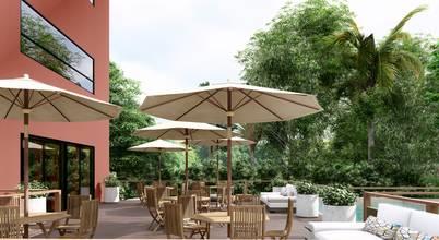Projeto para área externa de restaurante em Campinas/SP