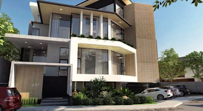 Architectural Excellence - A Modern 4-Storey Residence with a Lavish Pool