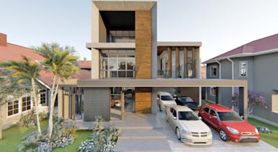 Modern 3-Storey Residence with Roof Deck