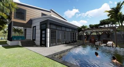 Modern mimarisiyle göz kamaştıran hafif çelik villa projesi