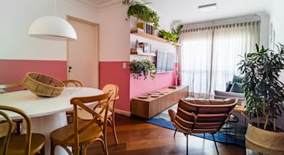 Maravilhoso projeto de interiores para apartamento alugado em São Paulo
