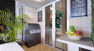 Projeto de interiores moderno e elegante para apartamento em Barueri/SP