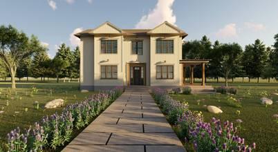İzmir'de Amerikan tarzı bir çiftlik evi projesi