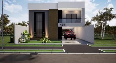 Projeto para sobrado moderno e espaçoso em Colombo (PR)