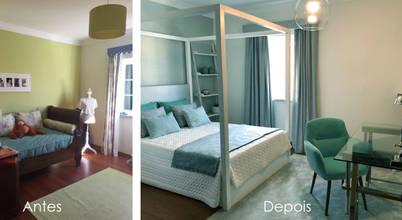 Incrível transformação de um quarto em tons verde água!