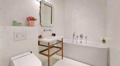 Magnifique salle de bains de luxe en mosaïque