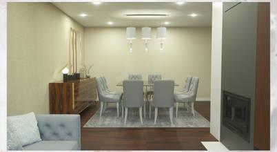 Uma sala maravilhosamente simples e elegante