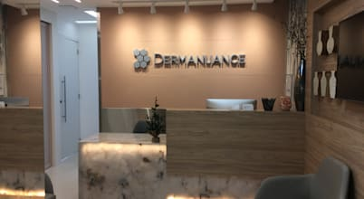 Decoração sofisticada para clínica de dermatologia em Brasília