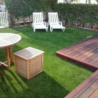 patios y jardines con csped artificial nadie notar la diferencia
