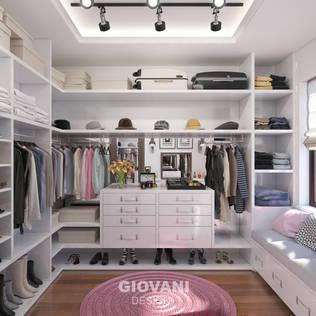 Minimalist Giyinme Odası Giovani Design Studio Minimalist