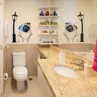 Banheiro Filhos1 Banheiros modernos por Quadrilha Design Arquitetura Moderno