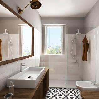 bagno ospiti: Bagno in stile di Euga Design Studio