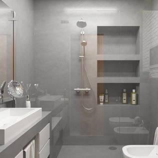 <40MQ: Bagno in stile di ULA architects