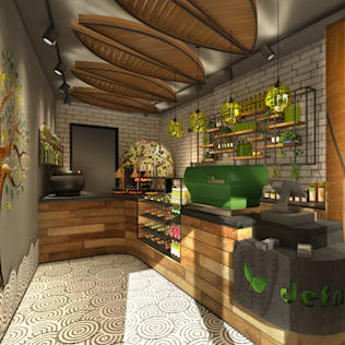 • Londra'da Defne Pizza Shop Kuca İnterior Design & Art Eklektik