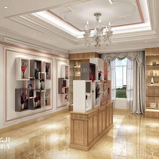 Abu Dhabi'de çiçekçi dükkânı iç dekorasyonu Algedra Interior Design Modern