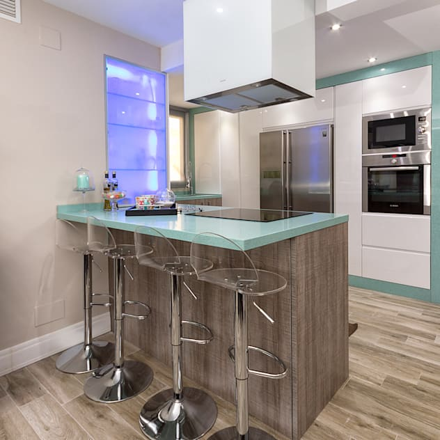ห้องครัว by Espacios y Luz Fotografía