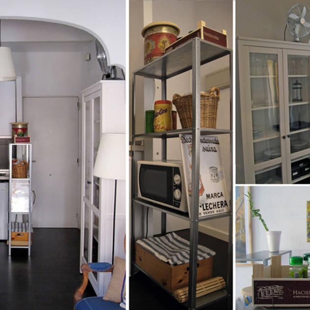 cocina en Chamberí, Madrid: Cocinas de estilo ecléctico de CarlosSobrinoArquitecto