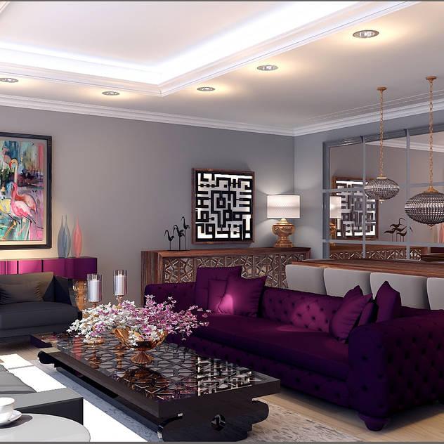 Phòng khách phong cách chiết trung bởi Origami Mobilya Chiết trung