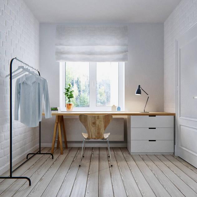 Phòng ngủ phong cách Bắc Âu bởi INT2architecture Bắc Âu