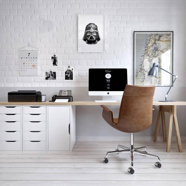 Estudios y oficinas de estilo escandinavo por INT2architecture