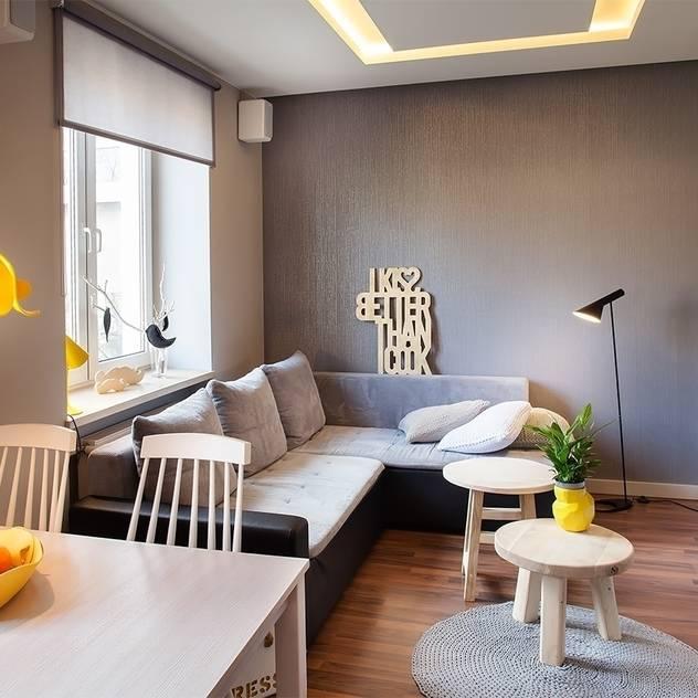 ห้องนั่งเล่น by Pink Pug Design Interior