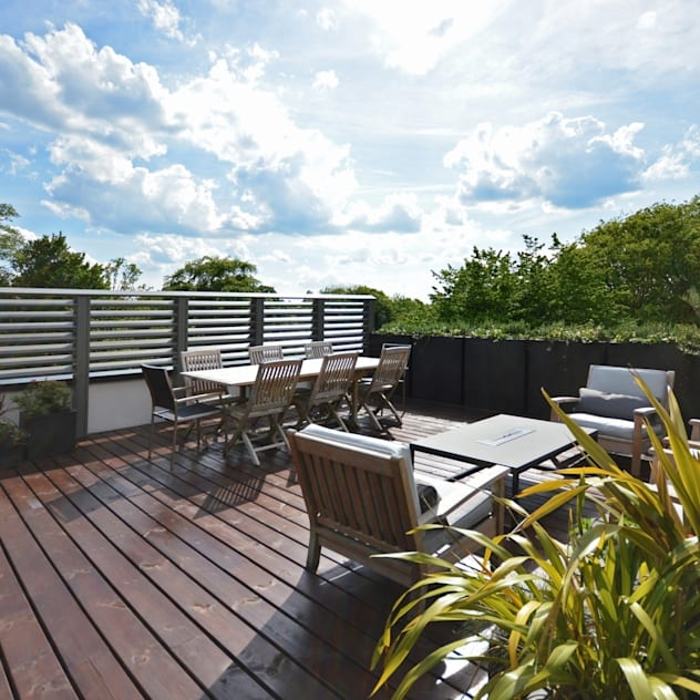 The roof terrace : Terrace by Zodiac Design