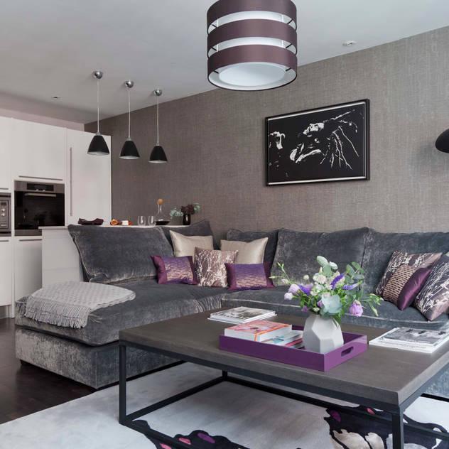 West End Apartment Nicola Holden Designs Modern living room