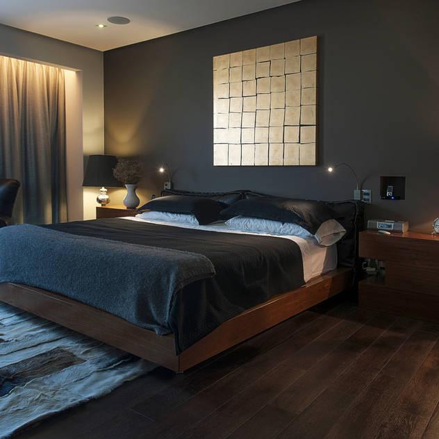 kababie arquitectos: modern tarz Yatak Odası