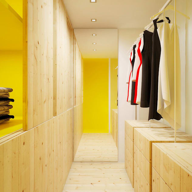 Phòng thay đồ phong cách Bắc Âu bởi POINT. ARCHITECTS Bắc Âu