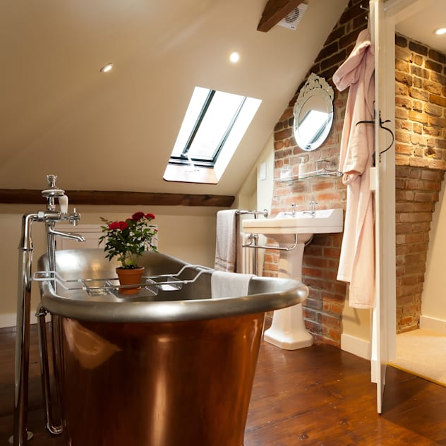 Copper Bath A1 Lofts and Extensions Rustic style bathroom