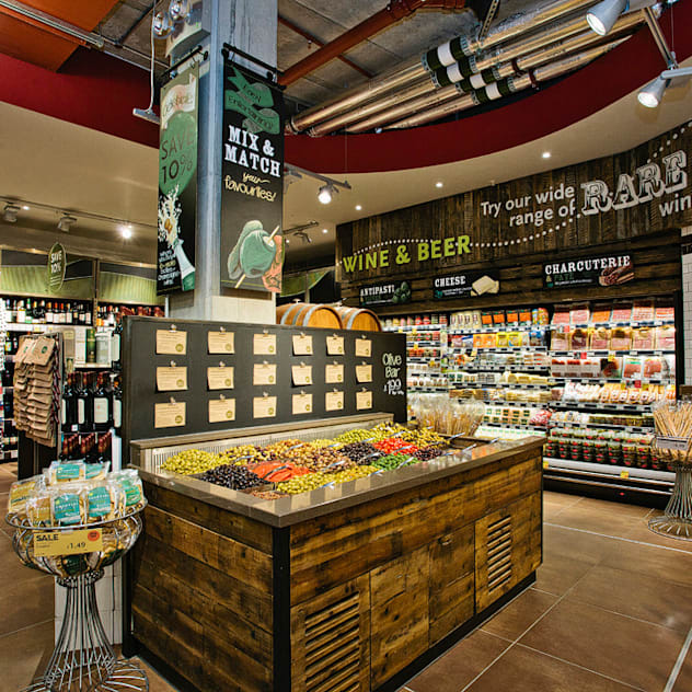 Whole Food Market Richmond Branch.:  Commercial Spaces by Garnett + Partners LLP, Eclectic