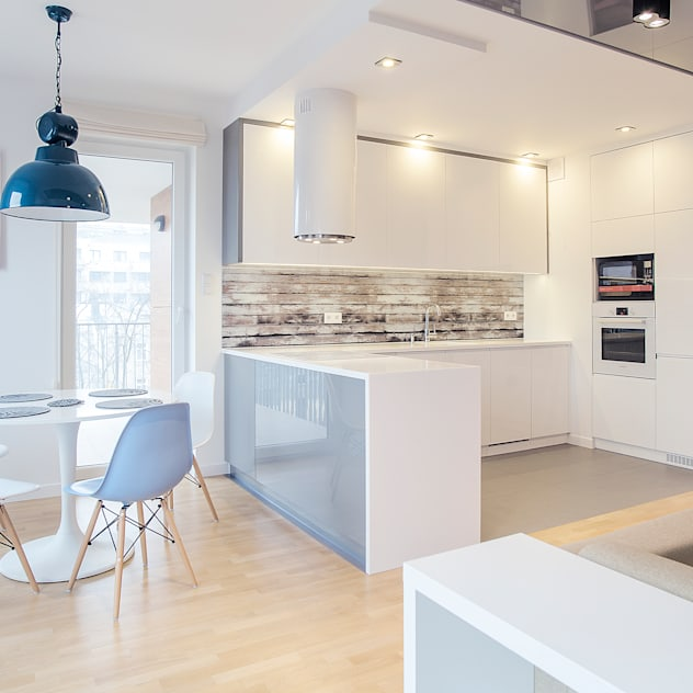 scandinavian Kitchen by DK architektura wnętrz