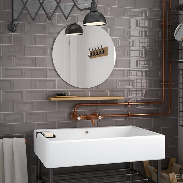 Equipe Ceramicas Industrial style bathroom Ceramic