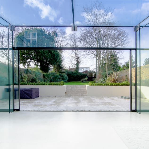 Barnes, London; Culmax Glass Box Extension and Maxlight Doors: Windows by Maxlight