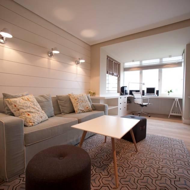 Sube Susaeta Interiorismo - Sube Contract diseño interior de casa con gran cocina: Salas multimedia de estilo moderno de Sube Susaeta Interiorismo