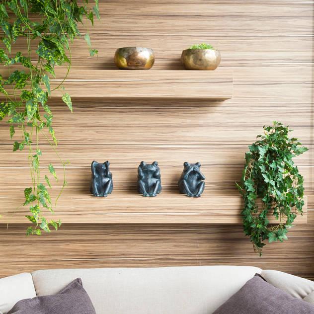 Detalhe Varanda Gourmert: Terraços por Haruf Arquitetura + Design