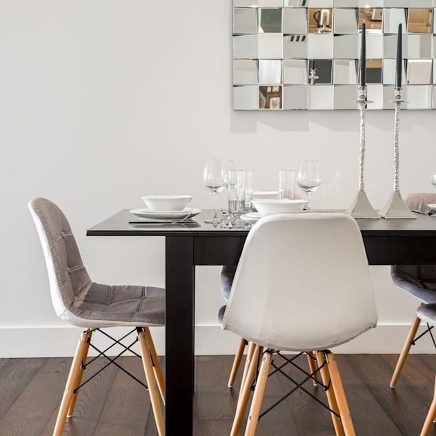 Dinning table and feature mirror : modern Dining room by In:Style Direct
