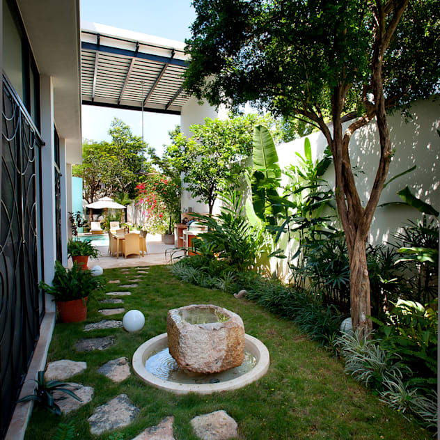 Vườn phong cách hiện đại bởi Taller Estilo Arquitectura Hiện đại