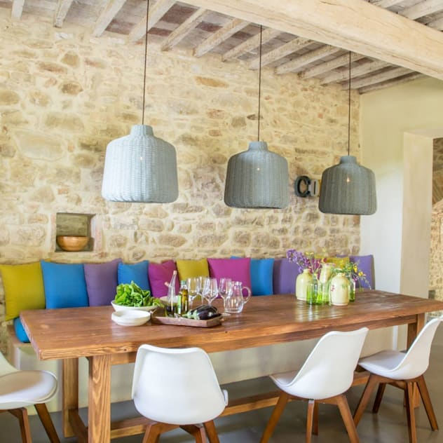 Salas de jantar rústicas por Marcello Gavioli